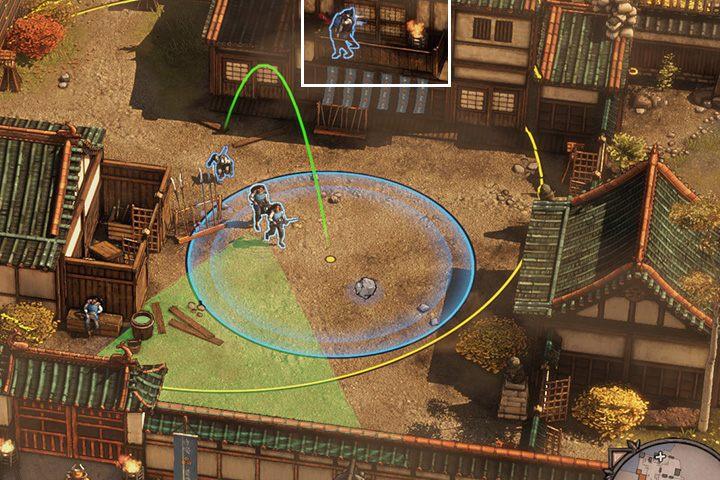 Tutaj największą trudność sprawi ci dwuosobowy patrol - Misja 1 - Zamek Osaka - Shadow Tactics: Blades of the Shogun - poradnik do gry