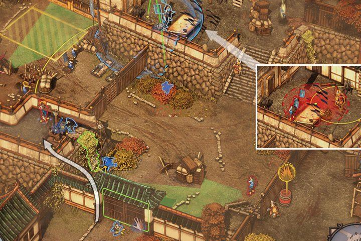 Teraz pozostaje ostatni obszar misji - Misja 1 - Zamek Osaka - Shadow Tactics: Blades of the Shogun - poradnik do gry