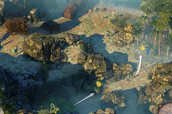 Pozbądź się wroga po lewej, który szuka Yuki - Misja 2 - Trakt Nakasendo - Shadow Tactics: Blades of the Shogun - poradnik do gry