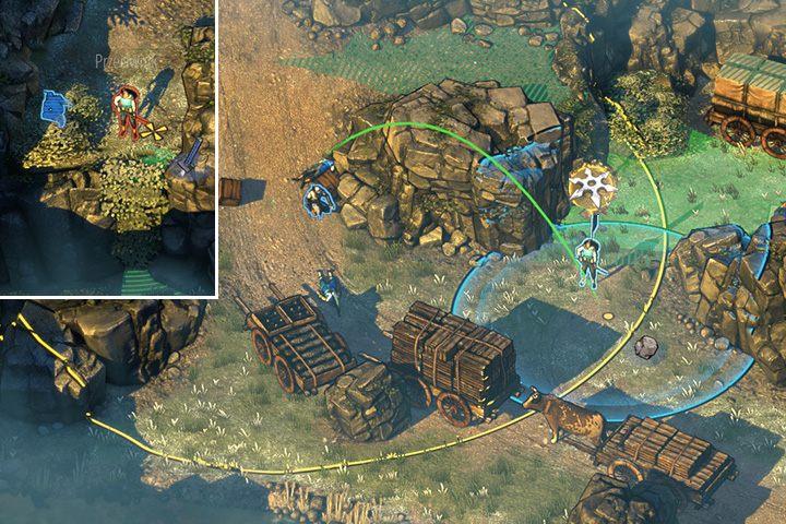 Jak już sytuacja się uspokoi, wskocz do rzeki i przepłyń do górnej części rzeki - Misja 2 - Trakt Nakasendo - Shadow Tactics: Blades of the Shogun - poradnik do gry