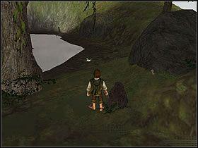 Podążając dalej ścieżką po prawej zobaczysz dużą kłodę drewna - Część 4 - The Shire - Władca Pierścieni: Drużyna Pierścienia - poradnik do gry