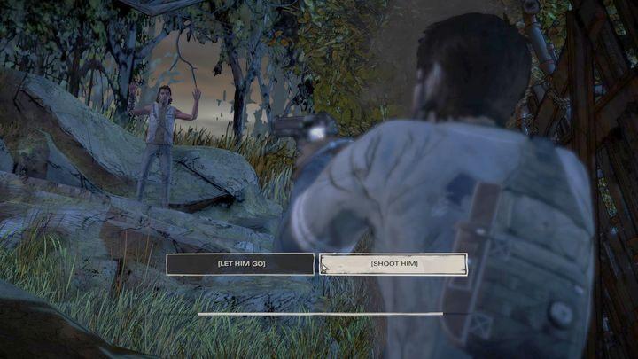 Kolejnym ważnym wyborem będzie sytuacja przedstawiona po wypadku samochodowym - Ważne wybory | Epizod 1 - Ties that Bind - The Walking Dead: The Telltale Series - A New Frontier - poradnik do gry