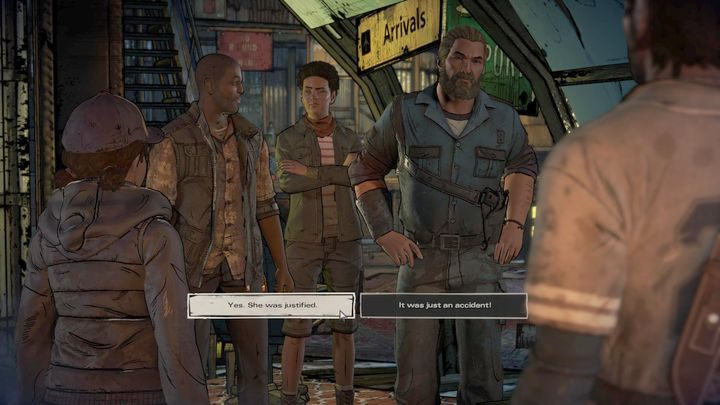 Trzeci ważny wybór dotyczy wydarzeń w Prescott - Ważne wybory | Epizod 1 - Ties that Bind - The Walking Dead: The Telltale Series - A New Frontier - poradnik do gry