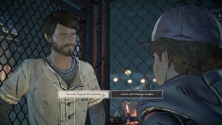 Czwarty ważny wybór także dotyczy wydarzeń w Presott, a mianowicie zaraz po tym jak Clem zastrzeli pasera - Ważne wybory | Epizod 1 - Ties that Bind - The Walking Dead: The Telltale Series - A New Frontier - poradnik do gry