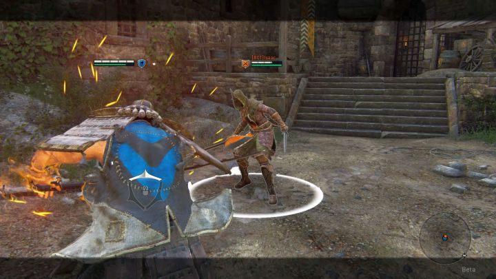 Kensei może kończyć serie ciosów atakiem niemożliwym do zablokowania, bądź takim, którego nie da się zatrzymać, gdy już się rozpocznie. - Kensei - For Honor - poradnik do gry