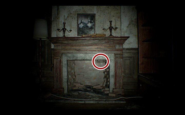 Zejdź na dół i podążaj dalej korytarzem i przejdź przez białe drzwi po prawej do małego pokoju z telewizorem - Pensjonat (Guest house) - Resident Evil VII: Biohazard - poradnik do gry