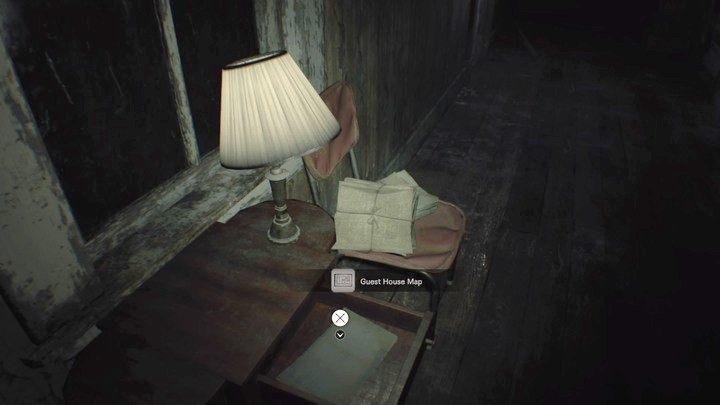 Mapa pensjonatu - Pensjonat (Guest house) - Resident Evil VII: Biohazard - poradnik do gry
