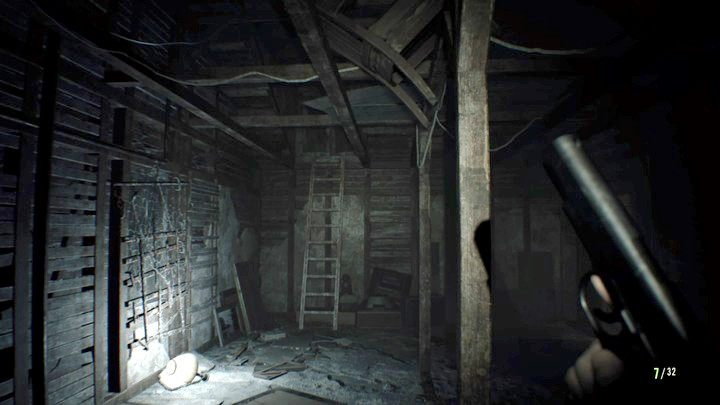 Wyjdź po drabinie do okna - Pensjonat (Guest house) - Resident Evil VII: Biohazard - poradnik do gry