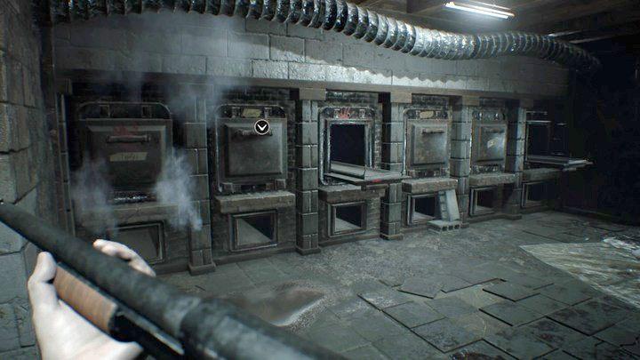 Spalarnia - pierwsze drzwiczki po lewej kryją klucz do dalszych obszarów piwnicy - Piwnica - Resident Evil VII: Biohazard - poradnik do gry