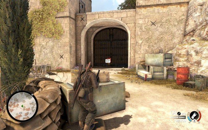 Na koniec dostań się do zamku wysadzając główną bramę - Znajdź kwaterę partyzantów - Sniper Elite 4 - poradnik do gry