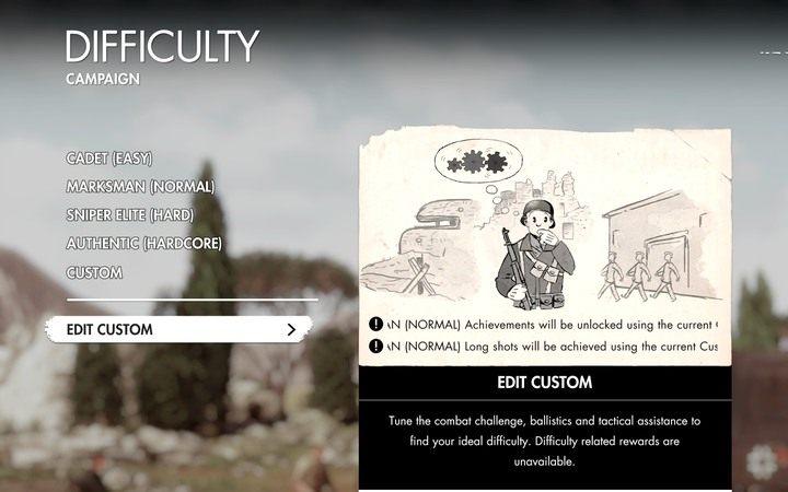 Domyślnie gra oferuje 4 poziomy trudności - Poziomy trudności - Sniper Elite 4 - poradnik do gry