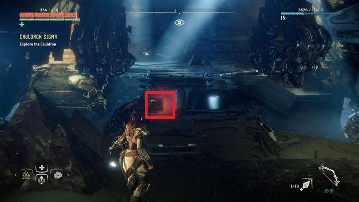 Ostatecznie trafisz na powyższe miejsce - Kocioł SIGMA (Cauldron SIGMA) - zadanie | Korona matki - Horizon Zero Dawn - poradnik do gry