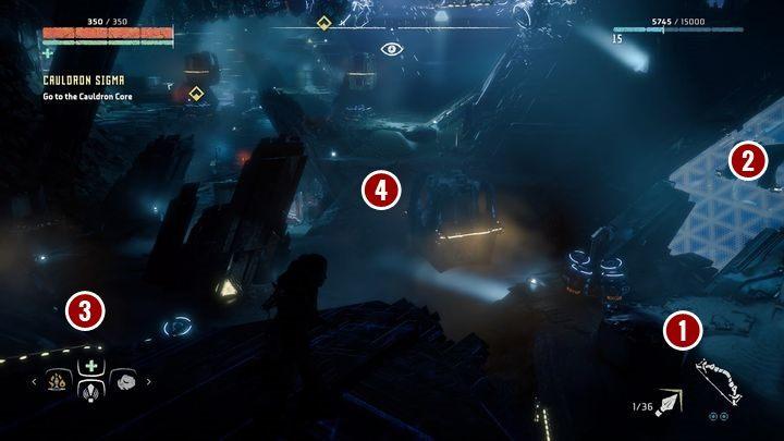 Najpierw przedostań się do obszaru z którego został zrobiony powyższy obrazek - Kocioł SIGMA (Cauldron SIGMA) - zadanie | Korona matki - Horizon Zero Dawn - poradnik do gry