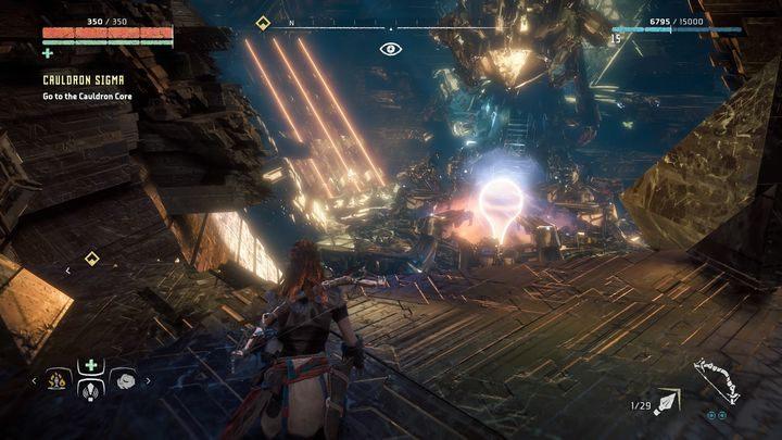 Ważny jest fakt, że do rdzenia Kotła możesz dostać się jedynie z górnego poziomu - Kocioł SIGMA (Cauldron SIGMA) - zadanie | Korona matki - Horizon Zero Dawn - poradnik do gry