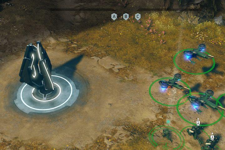 Tylko piechota może zajmować punkty kontrolne i węzły energetyczne. - Misja 3: Wyniesienie - Halo Wars 2 - poradnik do gry