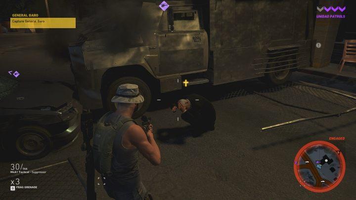 Zablokuj ciężarówkę, a generał będzie zmuszony opuścić pojazd - Generał Baro | Misje główne w Flor De Oro - Tom Clancys Ghost Recon: Wildlands - poradnik do gry