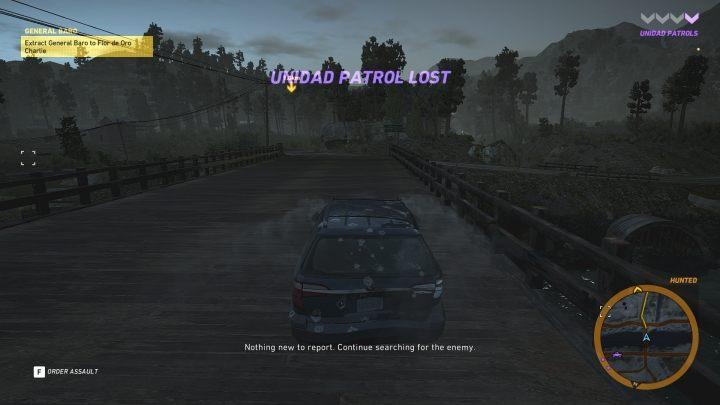 Uciekaj jak najszybciej przed jednostkami Unidadu w kierunku wyznaczonego miejsca - Generał Baro | Misje główne w Flor De Oro - Tom Clancys Ghost Recon: Wildlands - poradnik do gry