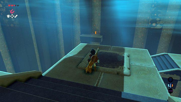 Przeskocz na półkę ze skrzynią - Świątynie (Shrines) w Dueling Peaks Tower - The Legend of Zelda: Breath of the Wild - poradnik do gry