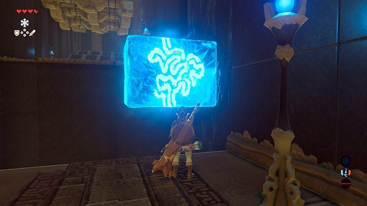 Lodowe bloki możesz ustawiać także pionowo - Świątynie (Shrines) w Dueling Peaks Tower - The Legend of Zelda: Breath of the Wild - poradnik do gry