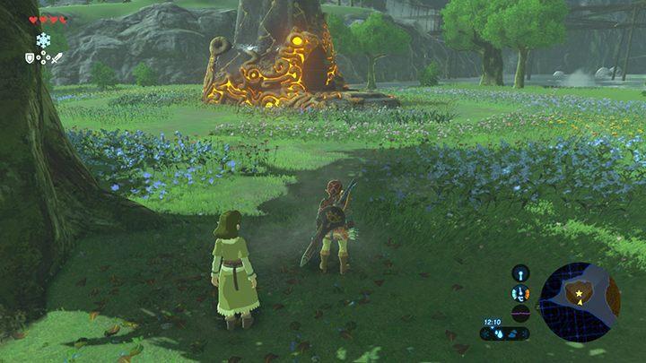Dojdź do świątyni tak, aby nie zniszczyć kwiatów - Świątynie (Shrines) w Dueling Peaks Tower   Zelda: Breath of the Wild - The Legend of Zelda: Breath of the Wild - poradnik do gry