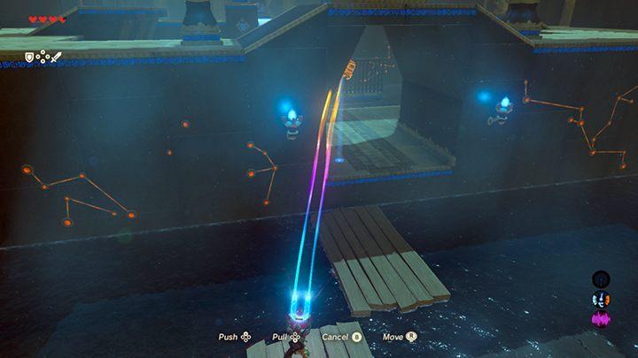 Wyciągnij z wody skrzynię za pomocą magnesu - Świątynie (Shrines) w Dueling Peaks Tower   Zelda: Breath of the Wild - The Legend of Zelda: Breath of the Wild - poradnik do gry