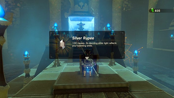 Wyjmij ze skrzyni Silver Rupee - Świątynie (Shrines) w Lanayru Tower - The Legend of Zelda: Breath of the Wild - poradnik do gry
