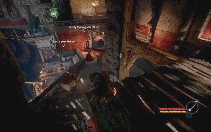Zeskocz z okna i udaj się do pomieszczenia, gdzie leży dokument - Podrób dokumenty | Misja 2 - Korrangar | Opis przejścia - Styx: Shards of Darkness - poradnik do gry