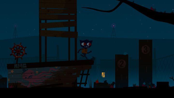 Żeby przejść dalej, musisz wskoczyć z rozbiegu na drzewo. - Prolog Night in the Woods - Night in the Woods - poradnik do gry