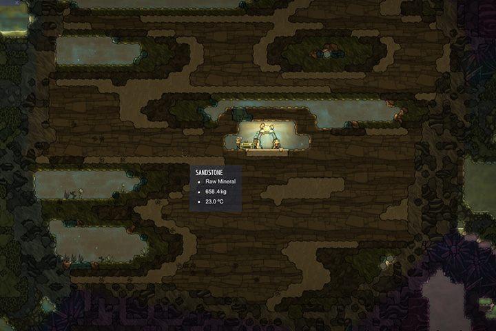 Sandstone - Piaskowiec - Minerały, skały i metale w Oxygen Not Included - Oxygen Not Included - poradnik do gry