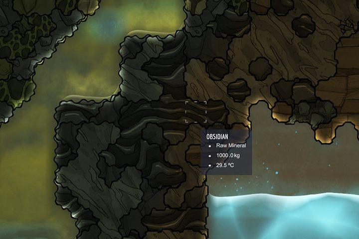 Obsidian - obsydian - Minerały, skały i metale w Oxygen Not Included - Oxygen Not Included - poradnik do gry