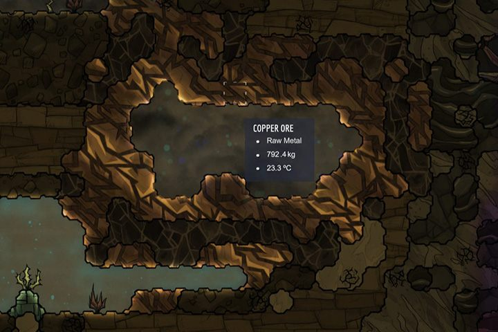 Cooper Ore - ruda miedzi - Minerały, skały i metale w Oxygen Not Included - Oxygen Not Included - poradnik do gry