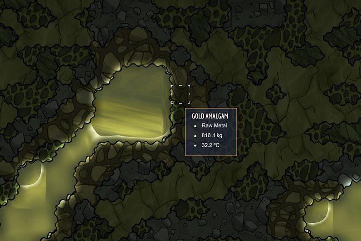 Gold Amalgam - amalgamat złota - Minerały, skały i metale w Oxygen Not Included - Oxygen Not Included - poradnik do gry