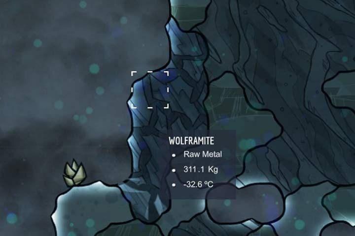 Wolframite - wolframit - Minerały, skały i metale w Oxygen Not Included - Oxygen Not Included - poradnik do gry