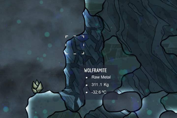 Wolframite - wolframit - Minerały, skały i metale w Oxygen Not Included - Oxygen Not Included - poradnik do gry