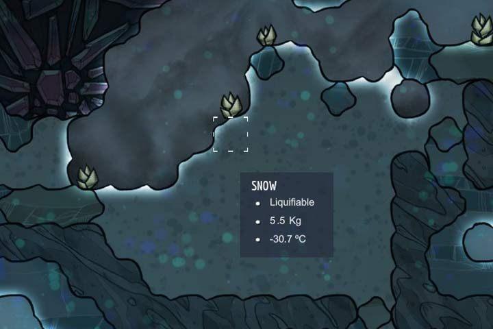 Snow - śnieg - Minerały, skały i metale w Oxygen Not Included - Oxygen Not Included - poradnik do gry