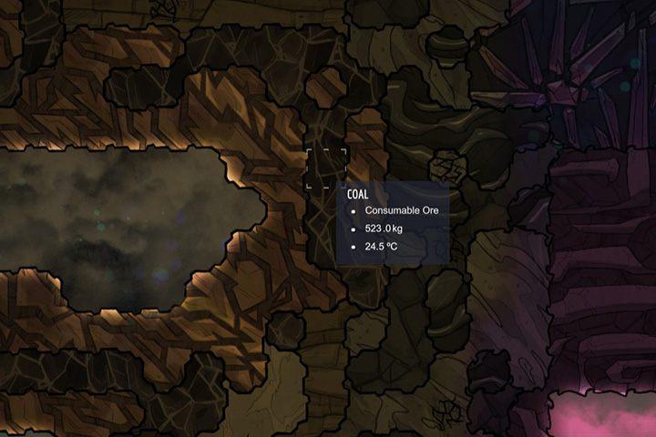 Coal - węgiel - Minerały, skały i metale w Oxygen Not Included - Oxygen Not Included - poradnik do gry