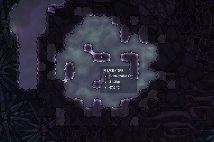 Bleach Stone - skała wybielająca - Minerały, skały i metale w Oxygen Not Included - Oxygen Not Included - poradnik do gry