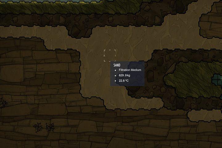 Sand - piasek - Minerały, skały i metale w Oxygen Not Included - Oxygen Not Included - poradnik do gry