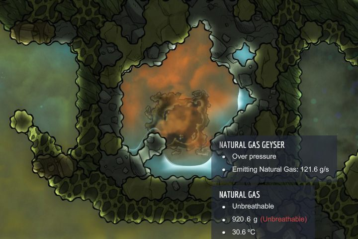 Natural gas - gas naturalny - Gazy w Oxygen Not Included - Oxygen Not Included - poradnik do gry