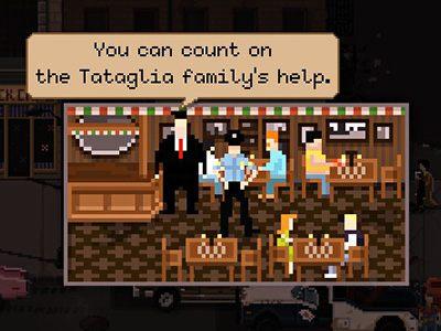 Włoska rodzina mafijna Tataglia ma lokalizację w restauracji Louie pod 609 - Frakcje w Beat Cop - Beat Cop - poradnik do gry