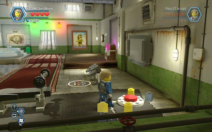 Trzeci przycisk pod workiem treningowym - Cele więzienne na wyspie   Rozdział 3 - LEGO City: Tajny Agent - poradnik do gry