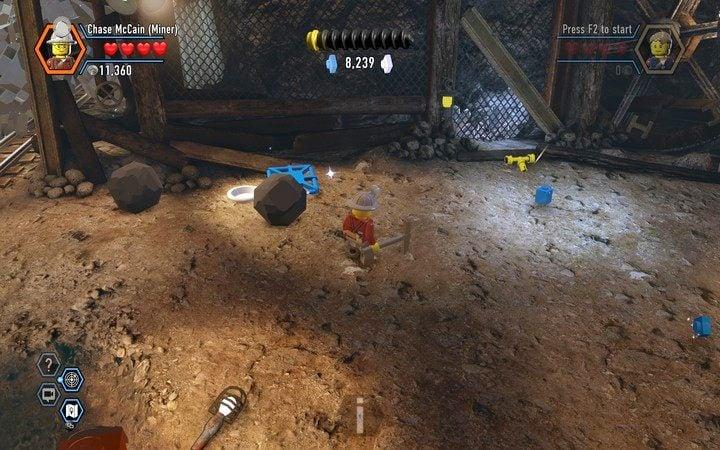 Pod kamieniami znajdziesz żółtą wajhę - Kopalnia | Rozdział 3 - LEGO City: Tajny Agent - poradnik do gry