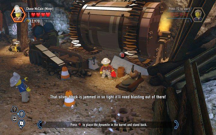 Dynamit służy do wysadzania srebrnych bloków - Kopalnia | Rozdział 3 - LEGO City: Tajny Agent - poradnik do gry