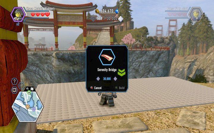 Musisz wybudować most, by dostać się na drugi brzeg i kontynuować misję - Dojo   Rozdział 4 - LEGO City: Tajny Agent - poradnik do gry