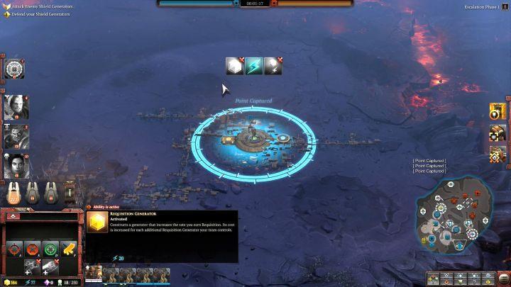 Przyrost zasobów zwiększyć można przy pomocy generatorów stawianych na punktach zasobów. - Jak zwiększyć przyrost zasobów?   FAQ - Warhammer 40,000: Dawn of War III - poradnik do gry