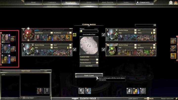 Aktualnie wybrane jednostki elitarne widoczne są przy lewej krawędzie ekranu. - Punkty i jednostki elitarne | Rozgrywka - Warhammer 40,000: Dawn of War III - poradnik do gry