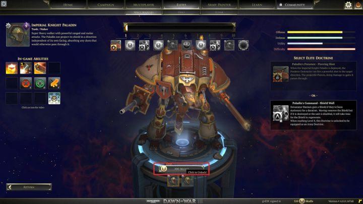 Nowe jednostki elitarne trzeba sobie najpierw odblokować. - Punkty i jednostki elitarne   Rozgrywka - Warhammer 40,000: Dawn of War III - poradnik do gry