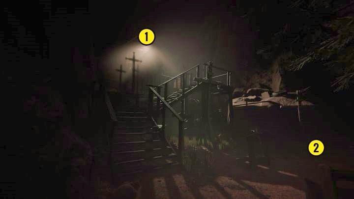 Rusz przed siebie i skręć w prawo na ścieżkę i idź nią aż zobaczysz powyższy budynek - Droga do kopalni - Outlast 2 - poradnik do gry