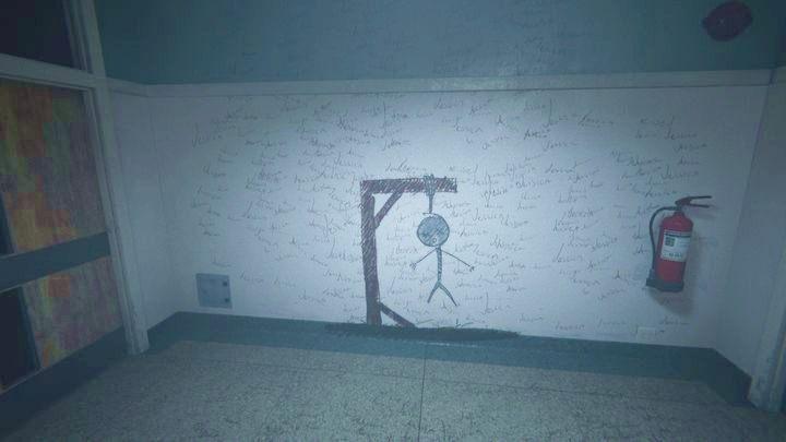 Po wejściu do budynku ponownie przeniesiesz się do szkoły - Wewnętrzny demon - Outlast 2 - poradnik do gry