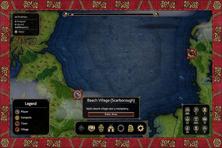 Mapa świata. - Eksploracja mapy świata i obozowanie - Expeditions: Viking - poradnik do gry